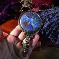 Butterfly Wing Miniature Hand Mirror